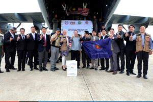 ASEAN relief items arrive in Wattay International Airport, Vientiane, Lao PDR -2
