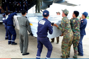 ASEAN relief items arrive in Wattay International Airport, Vientiane, Lao PDR -3