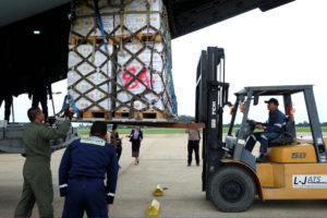 ASEAN relief items arrive in Wattay International Airport, Vientiane, Lao PDR -4