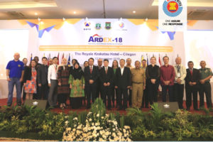 Delegations of ASEAN Countries and ASEAN Dialogue Partners during the opening of ARDEX 2018