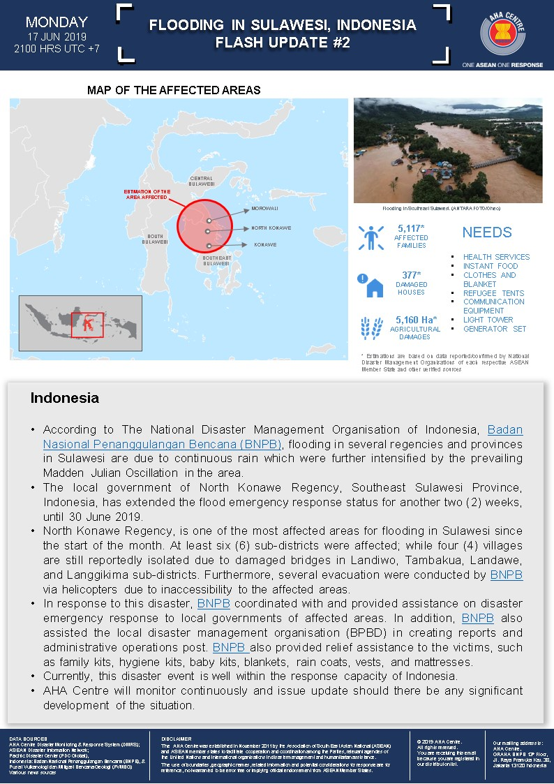 FLASH UPDATE: No  02 - Flooding in Sulawesi, Indonesia - 17